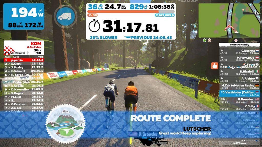 routes zwift achievement badge route Lutscher