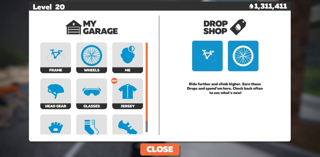 Drop Shop in Zwift