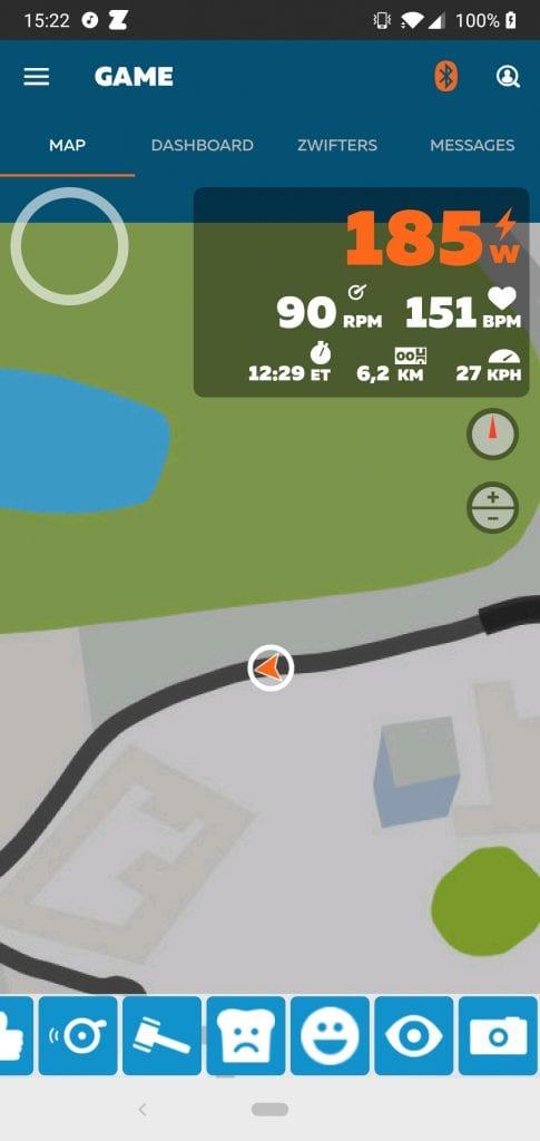 Zwift Companion App mini-kaart